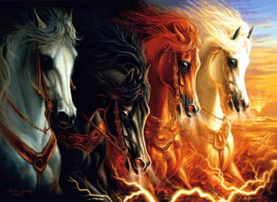 4 magic horses of spirit